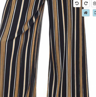 STRIPED PALAZZO PANTS ONE SIZE