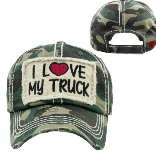 I LOVE MY TRUCK HAT CAMO