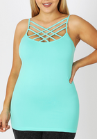 PLUS SIZE STRAPPY CAMI MINT