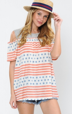 AMERICAN CARNIVAL COLD SHOULDER TOP