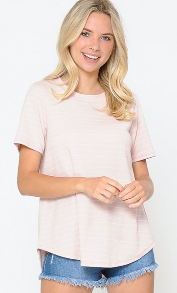BLUSH AND STRIPE TOP