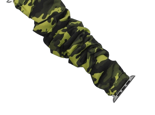CAMO SCRUNCHIE STYLE IWATCH BAND