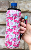 FLAMINGO AND FLOWERS WATER BOTTLE HANDLER