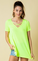 NEON LIME CAGE TOP