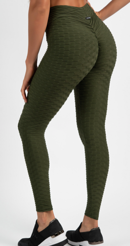 OLIVE HONEYCOMB LEGGINGS