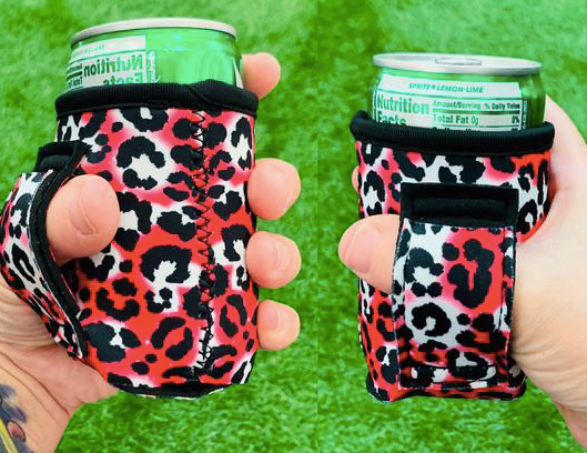 HOT PINK LEOPARD MINI CAN LIT HANDLER