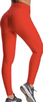 RED HONEYCOMB LEGGINGS