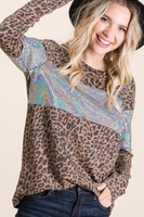 LEOPARD WITH HOLOGRAM DETAIL TOP