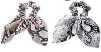 SNAKESKIN SCRUNCHIE WITH KNOTTED TIE