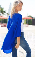 ROYAL BLUE SHEER KIMONO PLUS