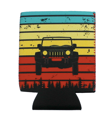 COLORFUL JEEP DRINK SLEEVE