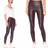 NEW MIX FAUX LEATHER LEGGINGS WINE