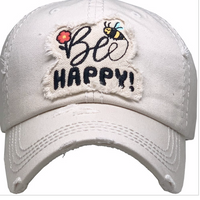 BEE HAPPY BASEBALL CAP