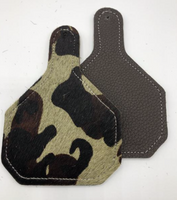 CAMO CATTLE TAG SHAPED RESCENTIT CAR CHARMS