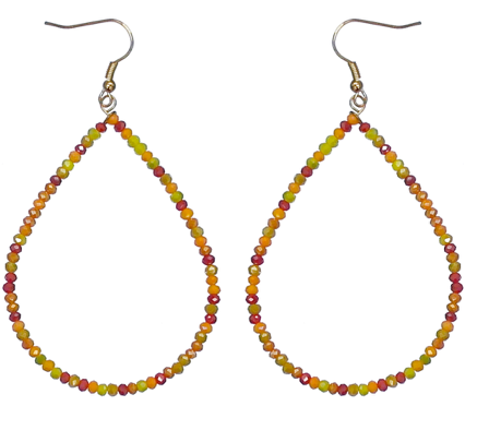 FALL SEED BEAD HOOP EARRINGS