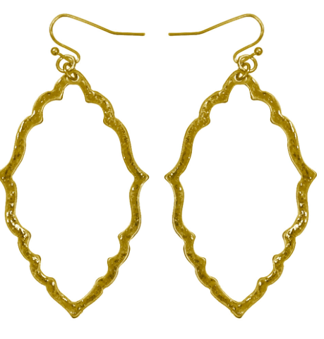 GOLD OVAL ANTIQUE EARRINGS