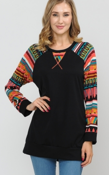 SERAPE RAGLAN WITH CHEST DETAIL