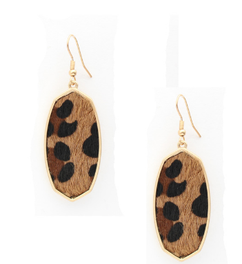 LEOPARD OBLONG KENDRA NOT EARRINGS