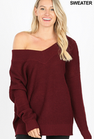 IF THIS IS AUSTIN DARK BURGUNDY WAFFLE SWEATER