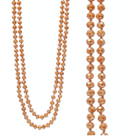 "FROSTED ORANGE 60"" BEADS"