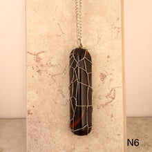 Load image into Gallery viewer, Obsidian Log Necklace