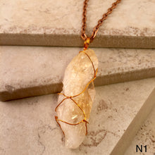 Load image into Gallery viewer, Long Orange Calcite Necklace
