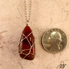 Load image into Gallery viewer, Rainbow Jasper Tear Necklace