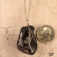 Load image into Gallery viewer, Snowflake Obsidian Necklace