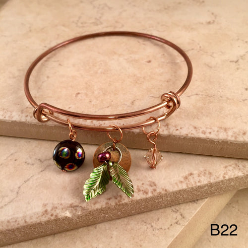 Copper Leaf Bracelet