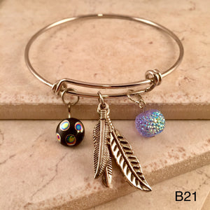 Sparkle Feather Bracelet