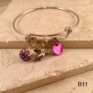 Purple Hummingbird Bracelet