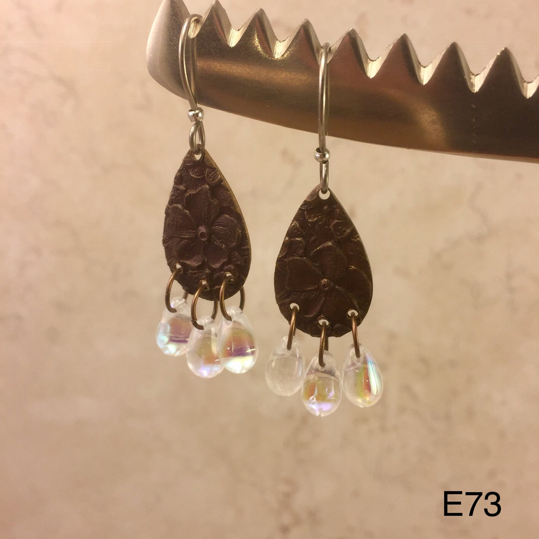 Copper Opalescent Earrings