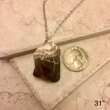 Load image into Gallery viewer, Chevron Amethyst Necklace