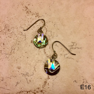 Abalone Round Earrings