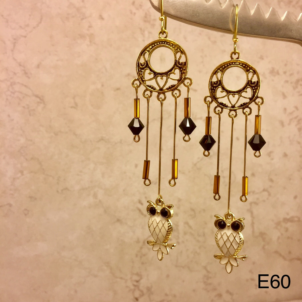 The Golden Owl Earrings