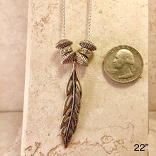 Load image into Gallery viewer, Silver Feather Necklace