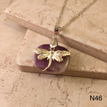 Load image into Gallery viewer, Dragonfly on Amethyst Necklace
