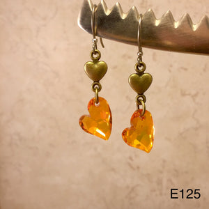 Bronze Heart Earrings
