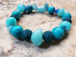 Lava Beads Glass Beads Gemstones Essential Oils Aromatherapy Bracelet