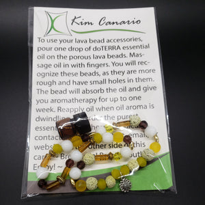 NATURAL CAR FRESHENER WITH LAVA BEADS