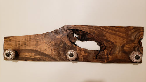 Reclaimed Wood Coat/Key Rack