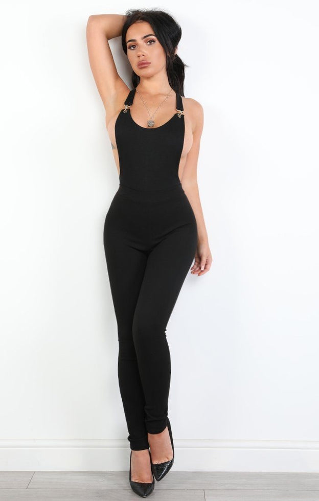 Black Buckled Bodysuit - Elise