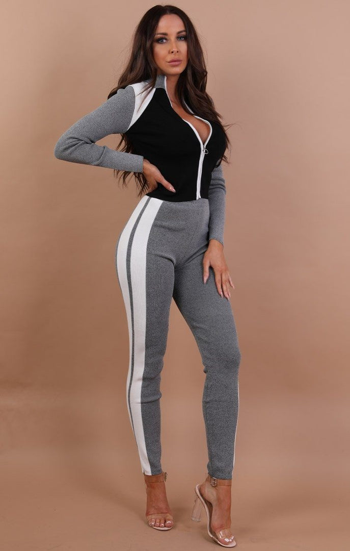 Grey And Black Premium Loungewear Set - Summer