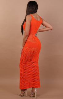 Crochet Maxi Dress- Karla