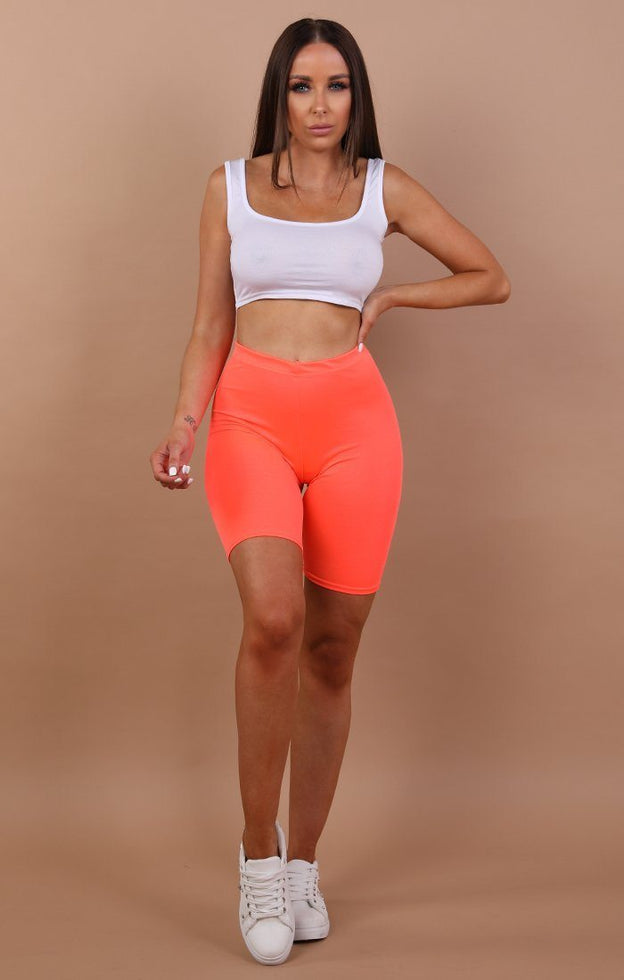 Neon Cropped Short Leggings - Kim