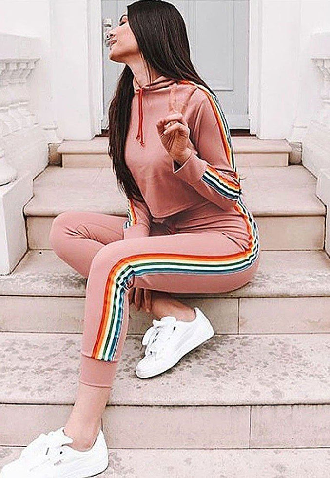 Rose Long Sleeve Rainbow Tracksuit - Paloma