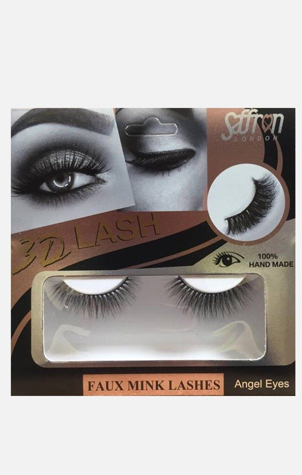 Saffron Faux Mink False Eyelashes - Angel Eyes