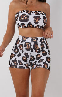 Brown Animal Leopard Print Shorts - Tammy