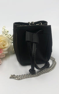 Black Pouch Micro Mini Bag - Fabia