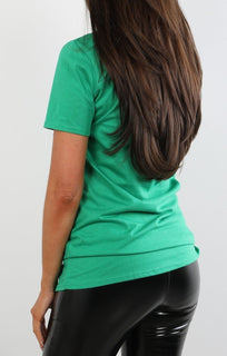 Green 'believe' Printed T-shirt
